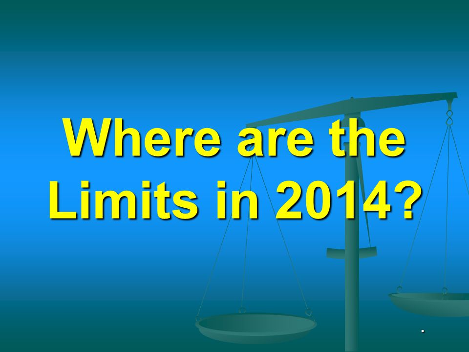 Where are the Limits in 2014?.