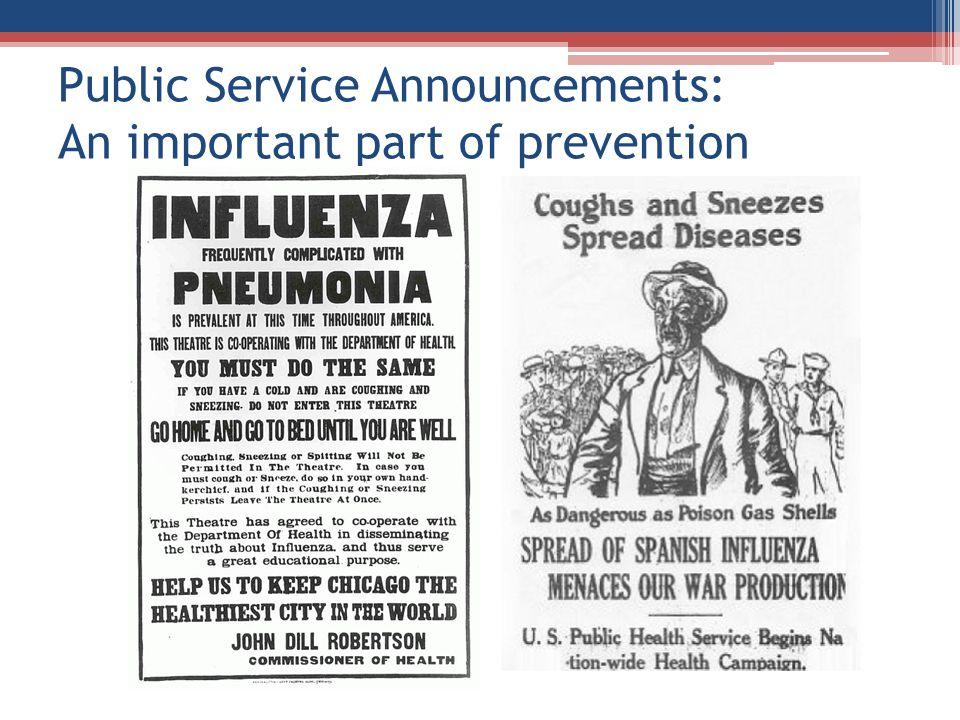 Public Service Announcements: An important part of prevention