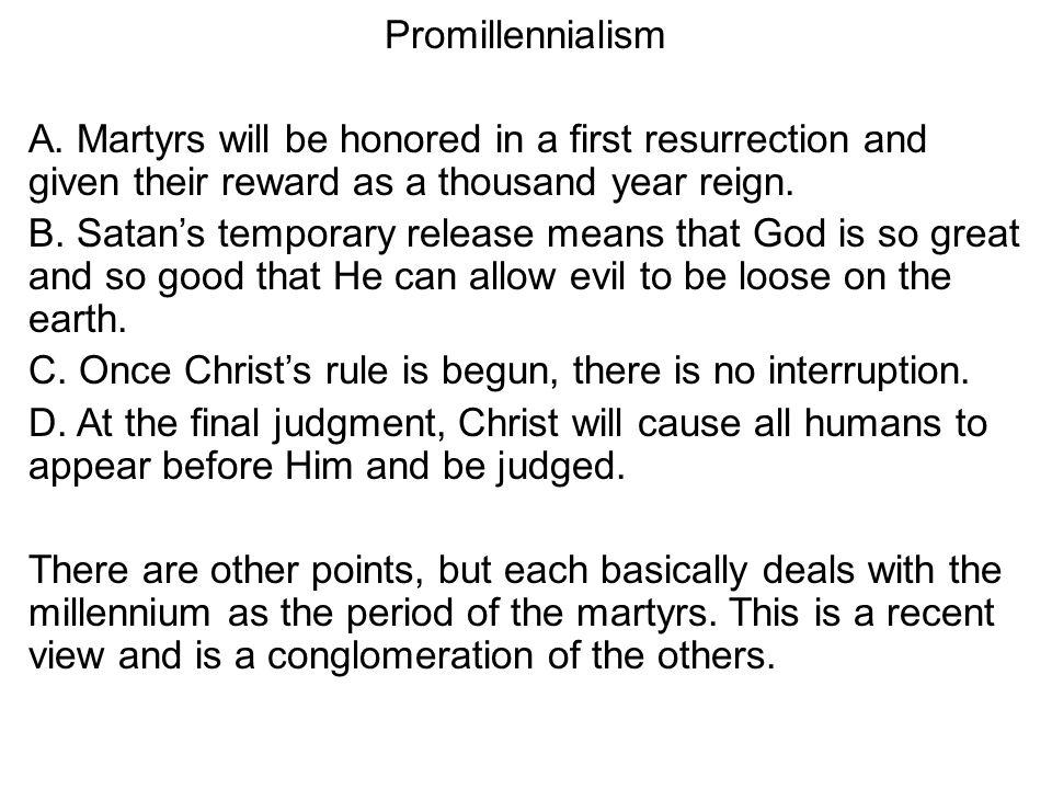 Promillennialism A.