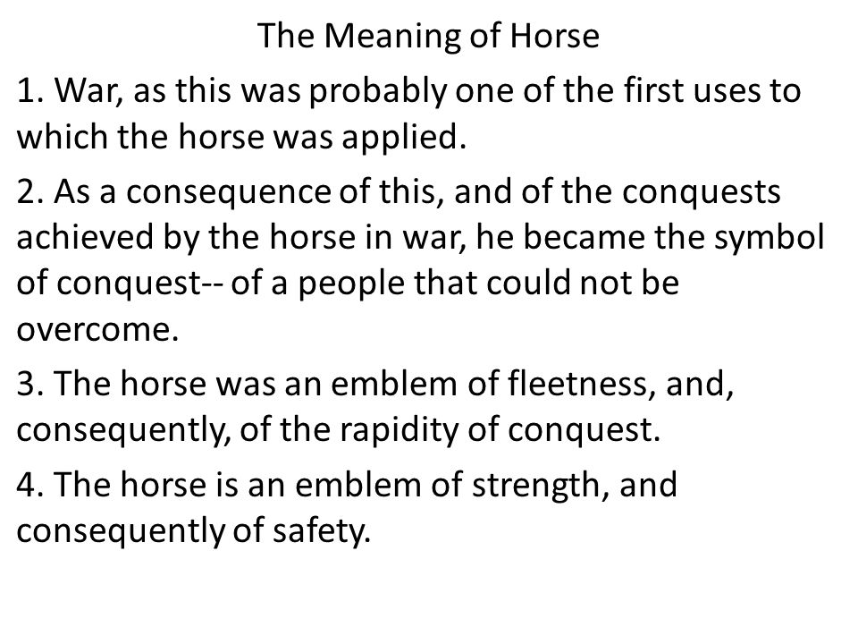 The Meaning of Horse 1.