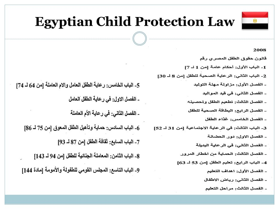 Egyptian Child Protection Law