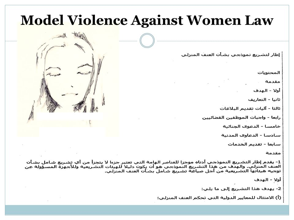 Model Violence Against Women Law
