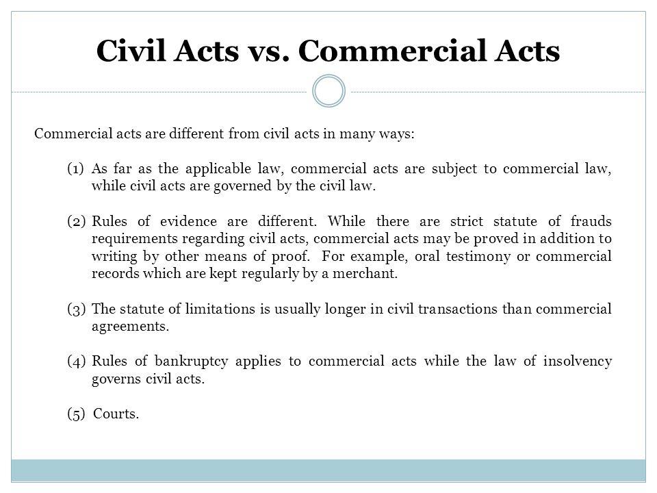 Civil Acts vs.