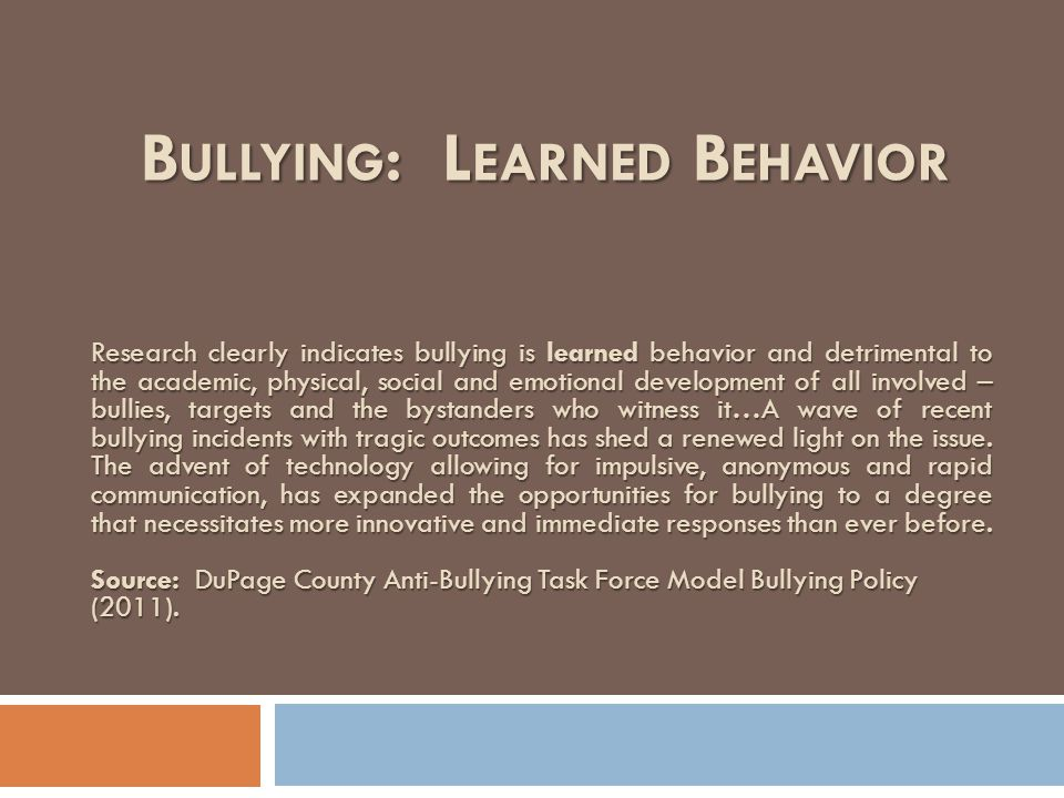 by any actual or perceived characteristics, such as race, color, religion, ancestry, national origin, gender, sexual orientation, gender identity and expression, or a mental, physical or sensory disability, or by any other distinguished characteristic, that takes place on school grounds, at any school-sponsored function or on a school bus, or off school grounds. DEFINITION (CON'T)