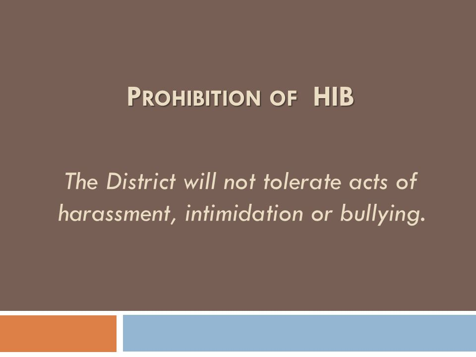 The District expects all students to treat each other with civility and respect. E XPECTATION
