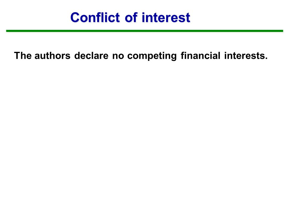 The authors declare no competing financial interests. Conflict of interest