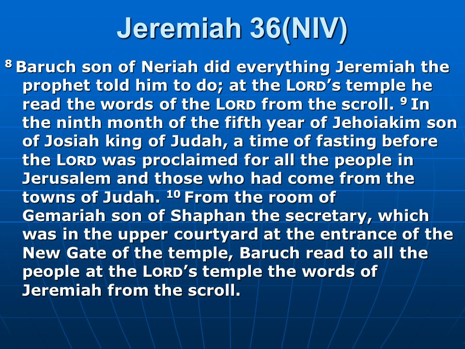 God's Reliable Messenger Why was Jeremiah not allowed in the temple.