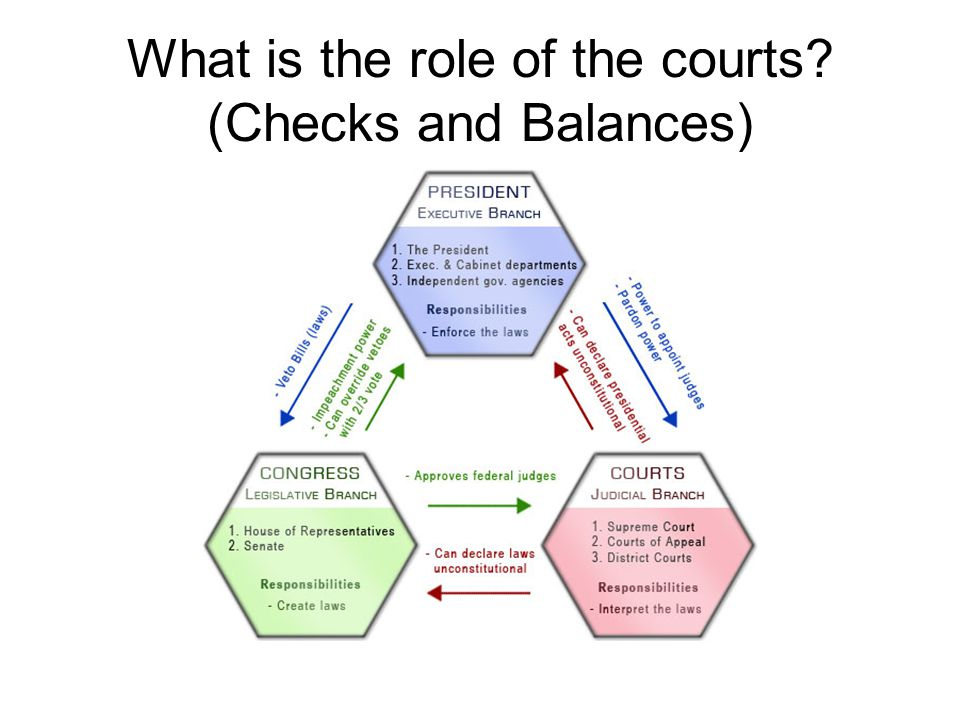 What is the role of the courts (Checks and Balances)