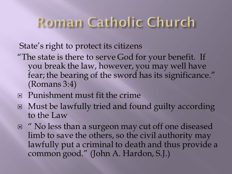 State's right to protect its citizens The state is there to serve God for your benefit.