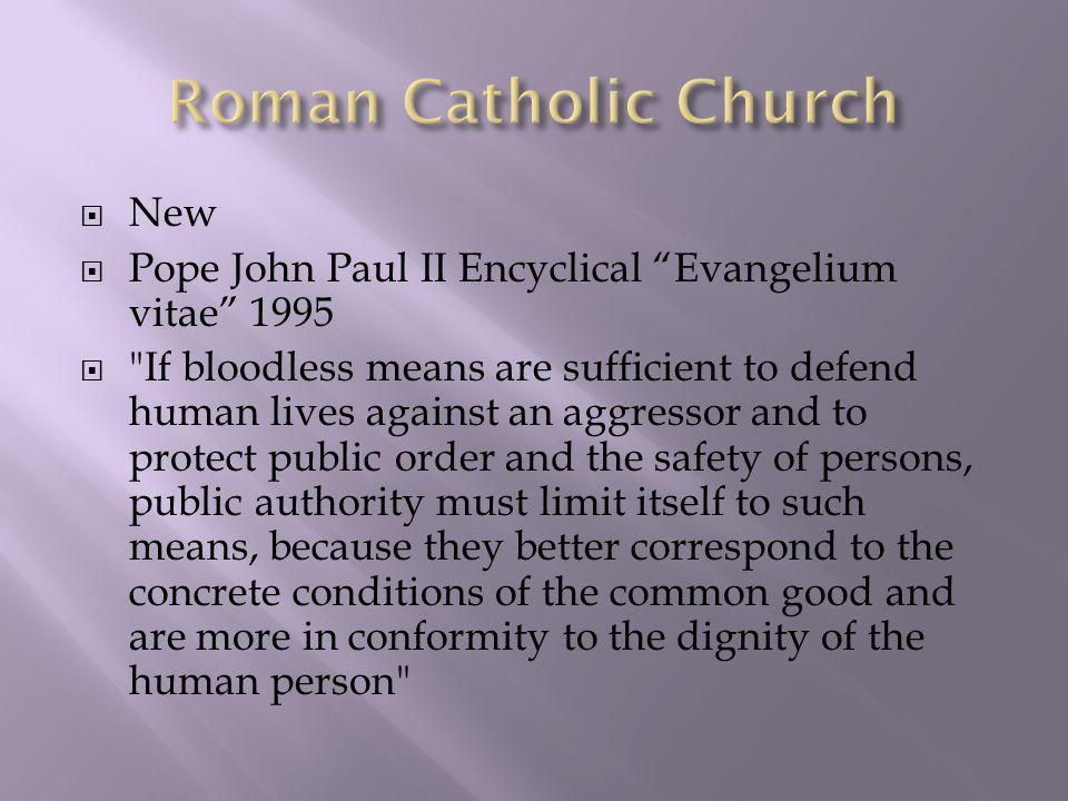 " New  Pope John Paul II Encyclical ""Evangelium vitae"" 1995 "