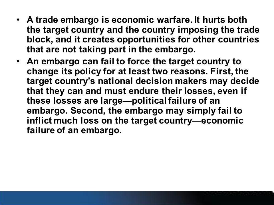 A trade embargo is economic warfare.