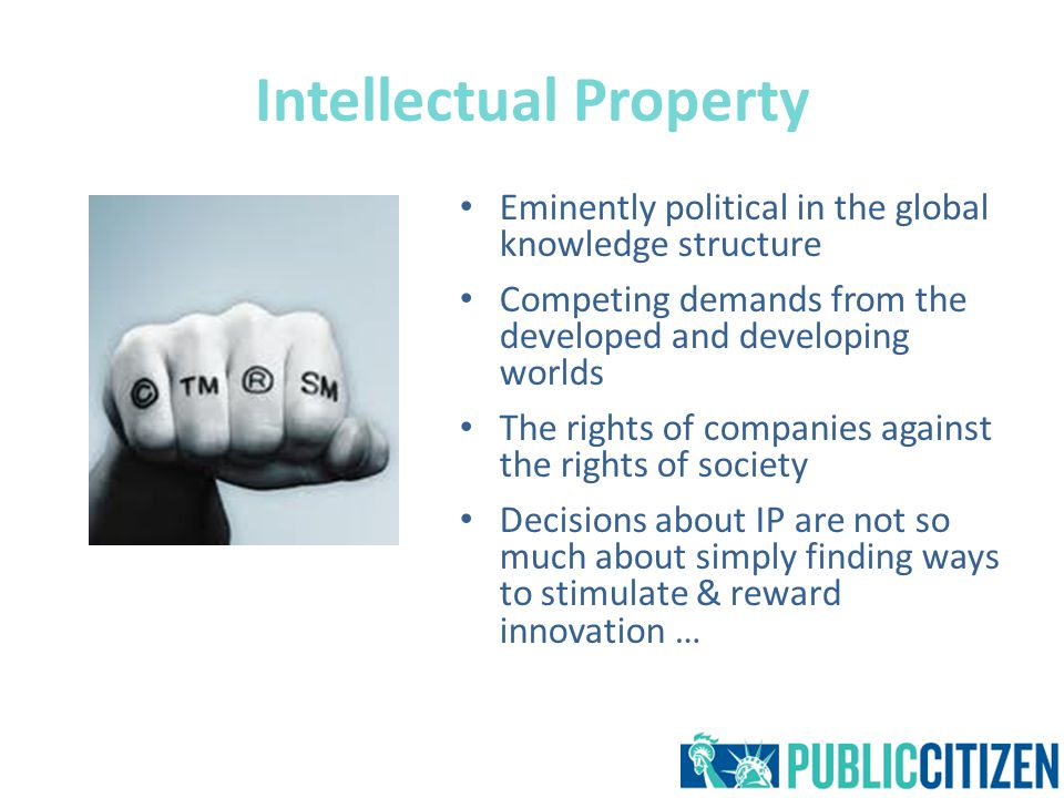 The TRIPS Agreement Powerful symbol of the globalisation of IP Establishes the minimum standards for IP protection Provides ample opportunities for creative interpretations Raised great deal of public controversy and debate Businesses are no longer satisfied – Outliving its purpose
