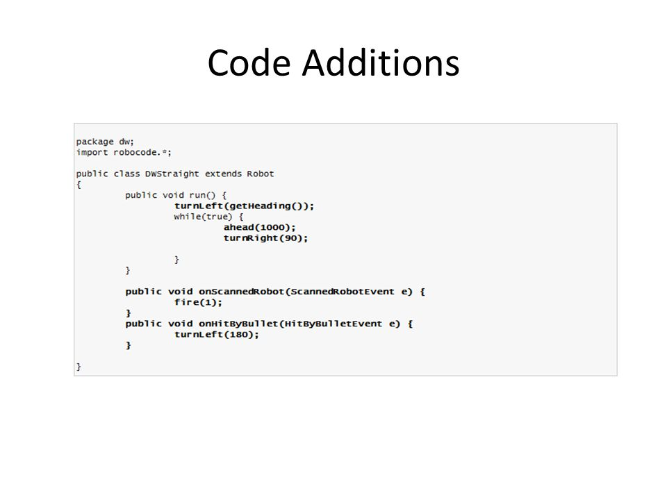 Code Additions