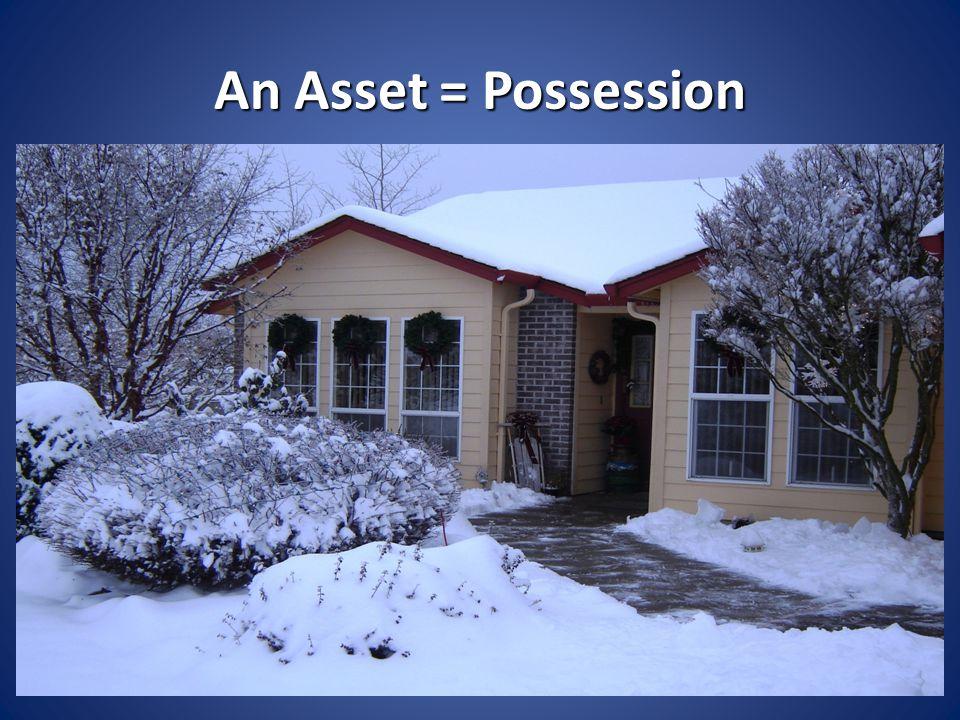 An Asset = Possession