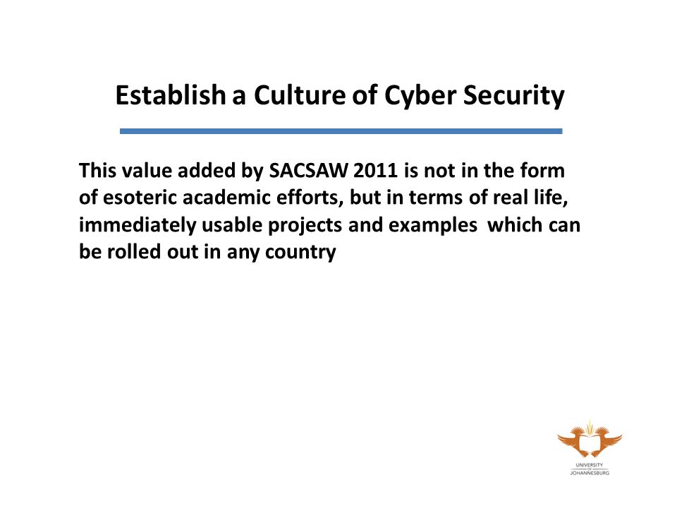 This value added by SACSAW 2011 is not in the form of esoteric academic efforts, but in terms of real life, immediately usable projects and examples which can be rolled out in any country