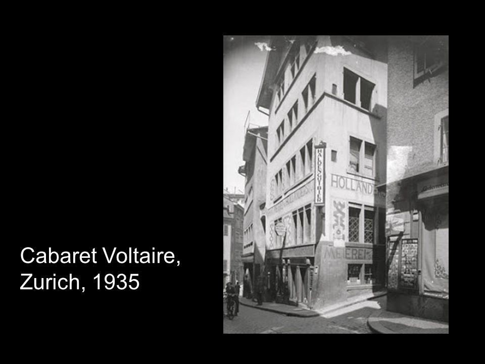 Cabaret Voltaire, Zurich, 1935