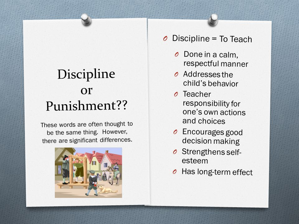 Discipline or Punishment .