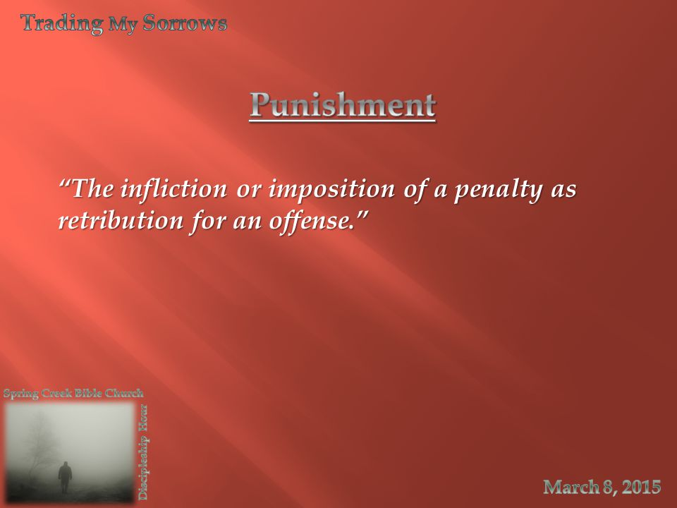 The infliction or imposition of a penalty as retribution for an offense.