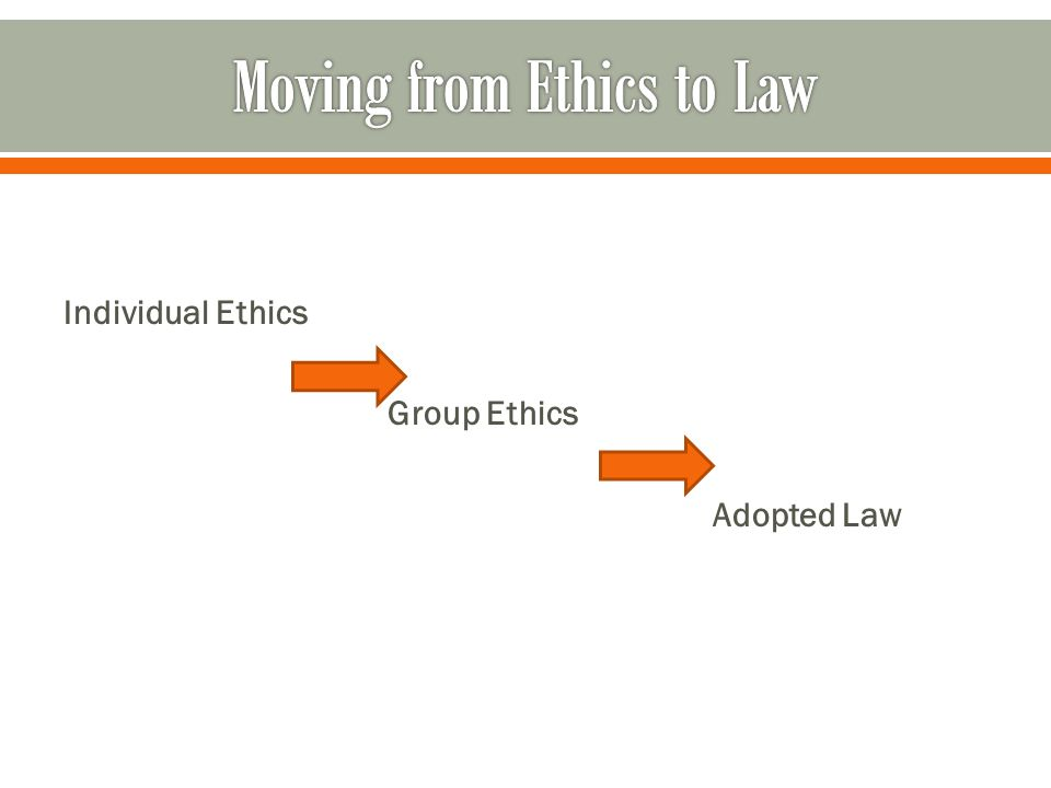 Individual Ethics Group Ethics Adopted Law