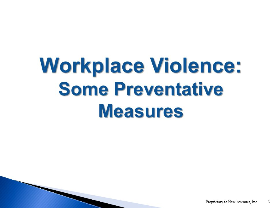 3 Workplace Violence: Some Preventative Measures