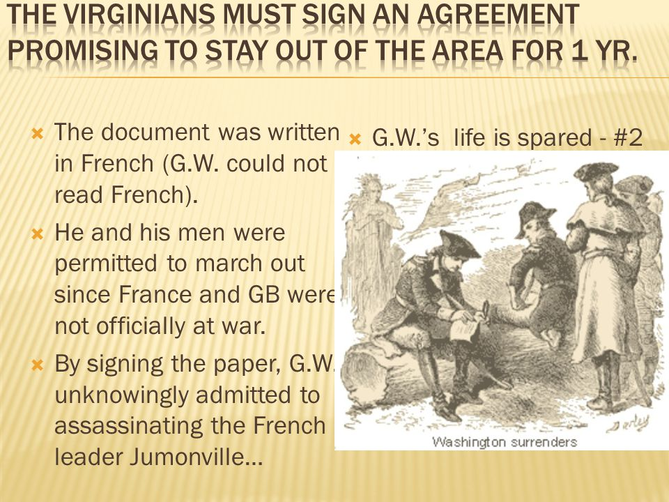  The document was written in French (G.W. could not read French).