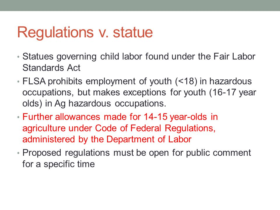 Regulations v.