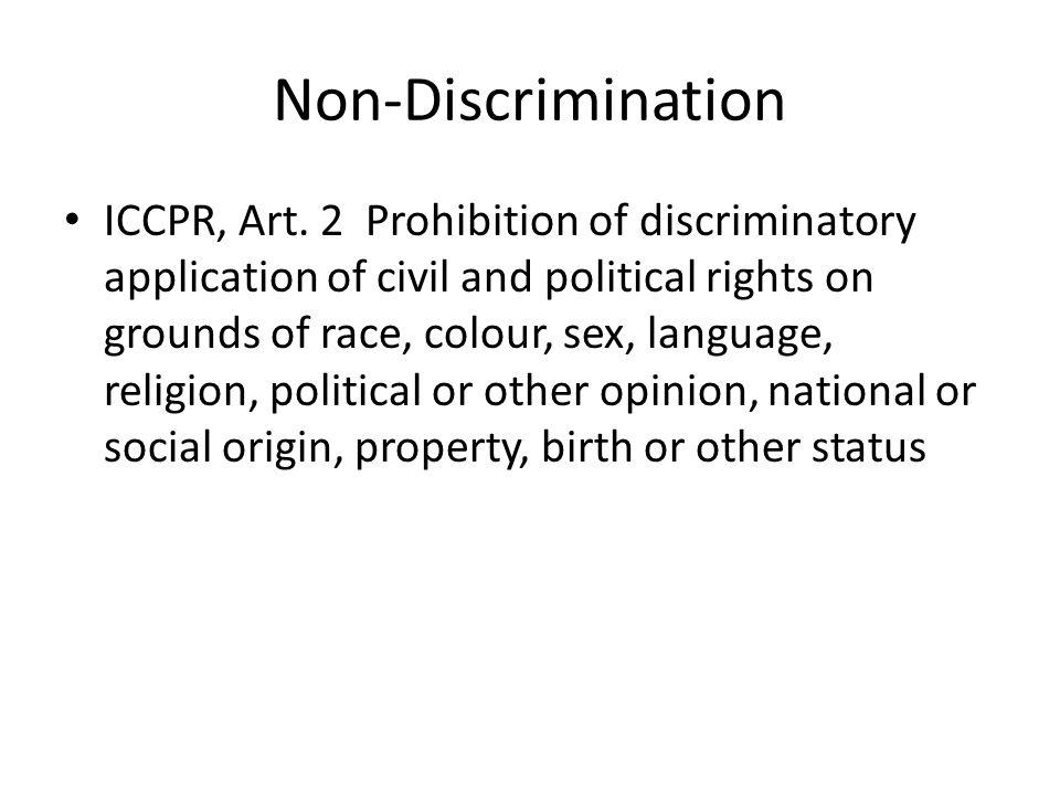 Direct Discrimination 1.Unequal Treatment 2. Unfavorable treatment 3.