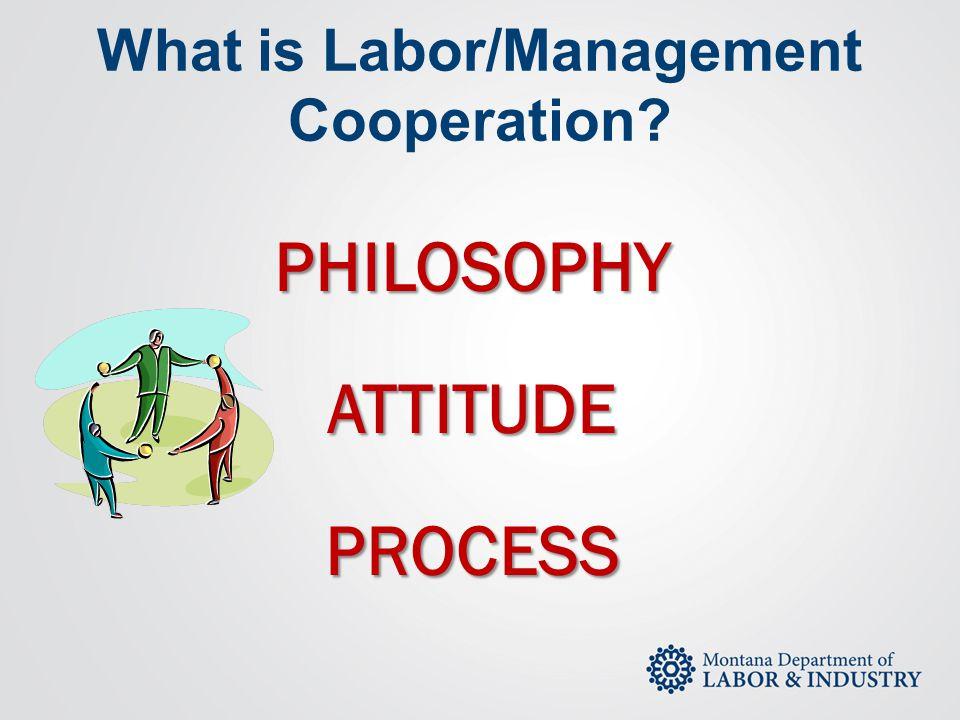What is Labor/Management Cooperation?PHILOSOPHYATTITUDEPROCESS