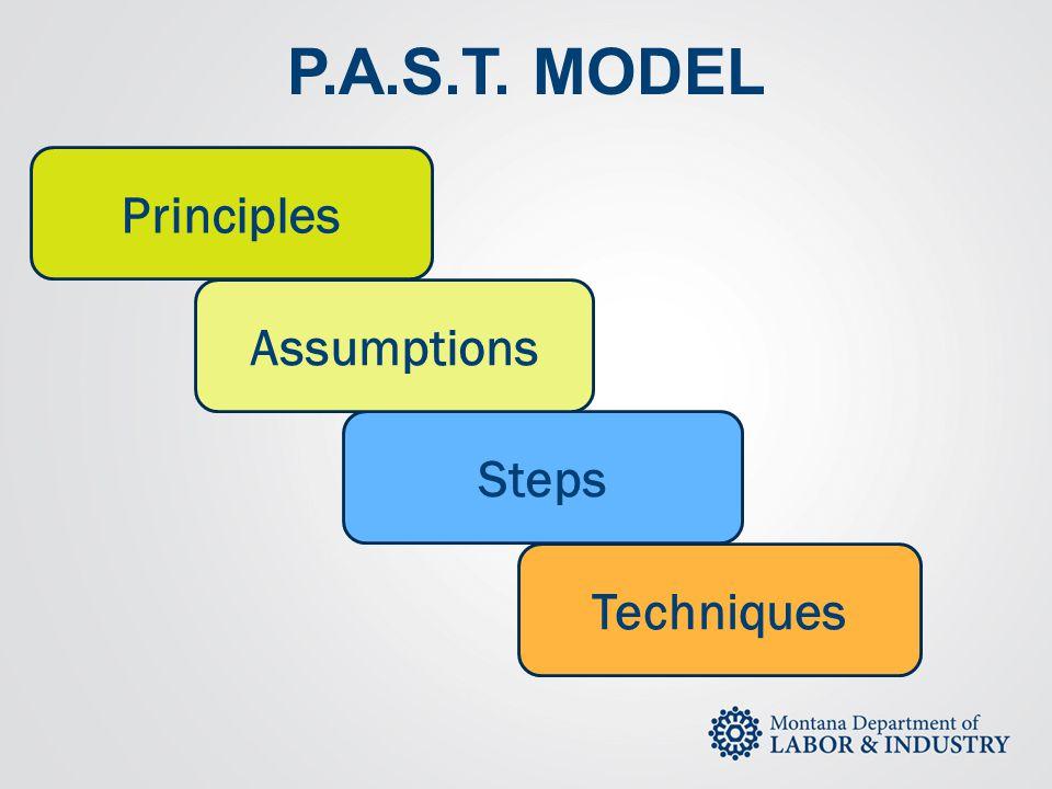 P.A.S.T. MODEL Principles Steps Assumptions Techniques