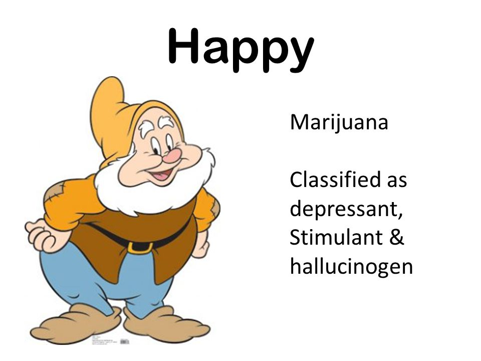 Happy Marijuana Classified as depressant, Stimulant & hallucinogen