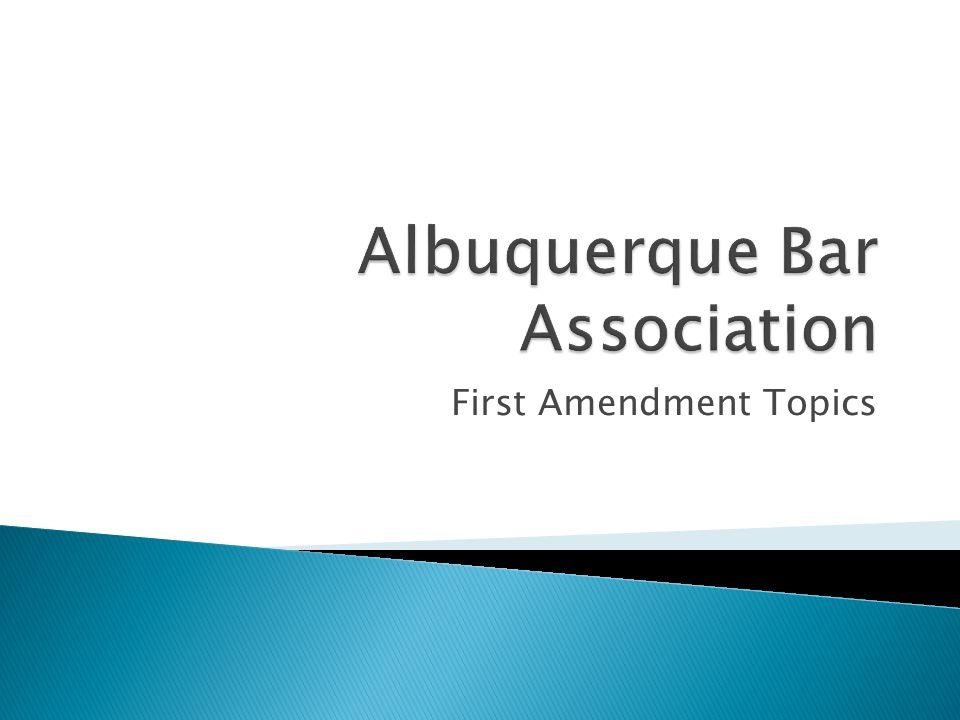 First Amendment Topics