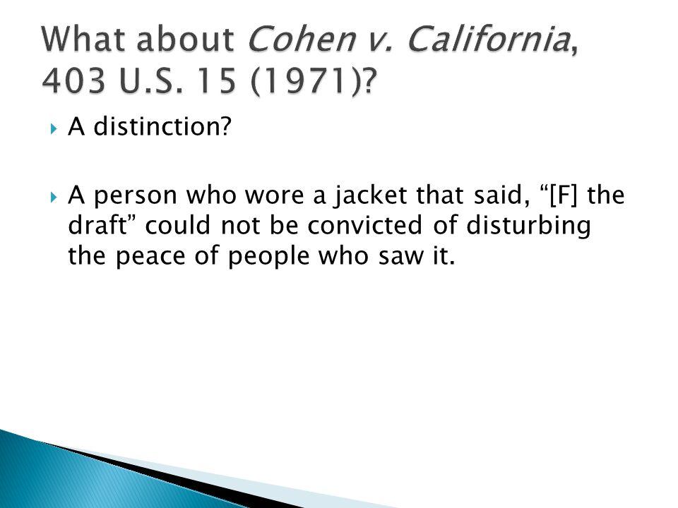  A distinction.