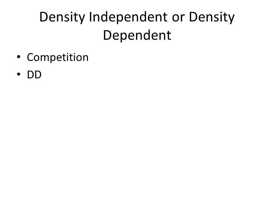 Density Independent or Density Dependent Competition DD