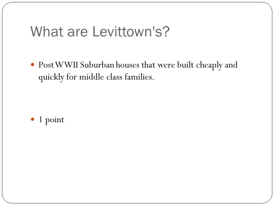 What are Levittown s.