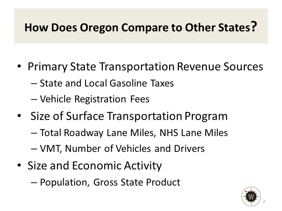 How Does Oregon Compare to Other States .