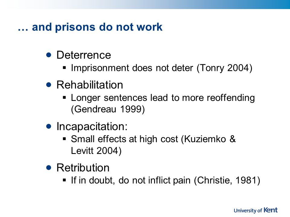 Information needs Is QCT being used as an alternative to imprisonment.