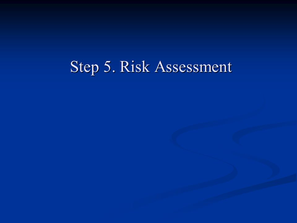 Step 5. Risk Assessment