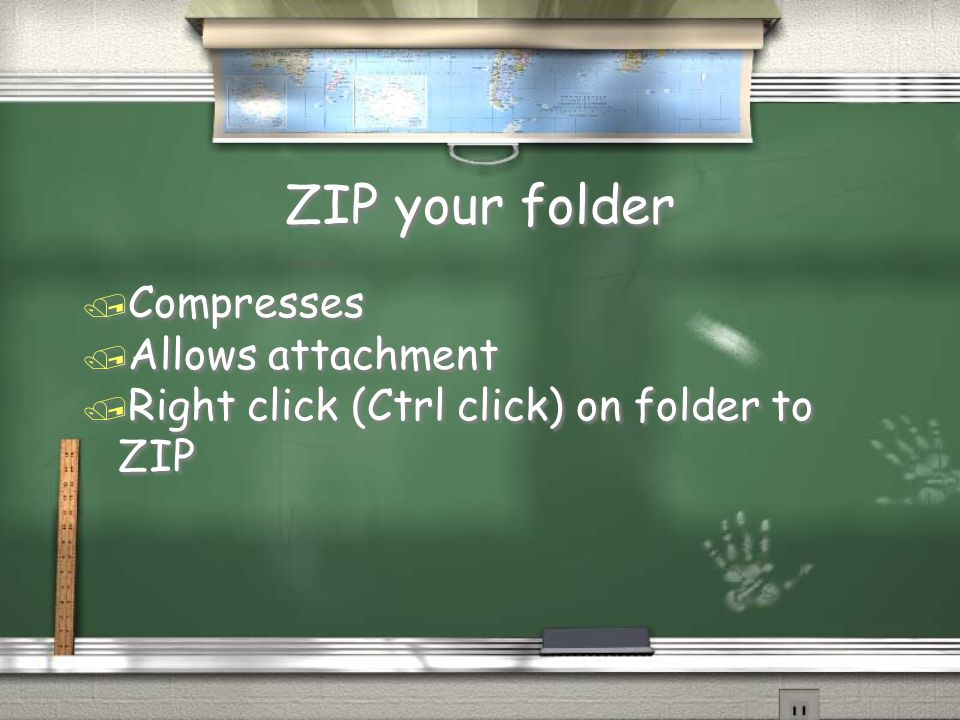 ZIP your folder / Compresses / Allows attachment / Right click (Ctrl click) on folder to ZIP / Compresses / Allows attachment / Right click (Ctrl click) on folder to ZIP