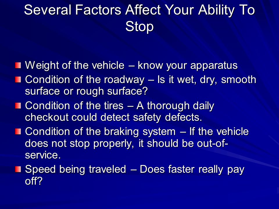 Braking and Reaction Time/Distance Once the brakes have been applied at 45 miles per hour, it takes another 210 feet to stop, making the total stopping distance at 45 miles per hour 260 feet.