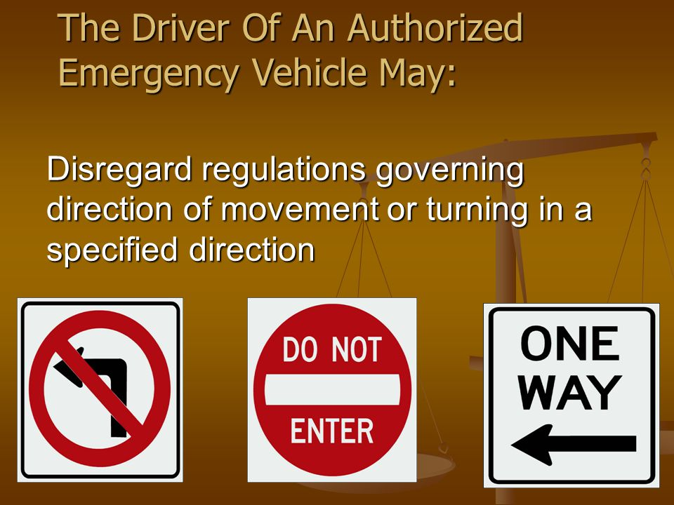 Vehicle Operations SOPs Emergency Response (Example) …Always maintain adequate distance to avoid rear-end collisions.