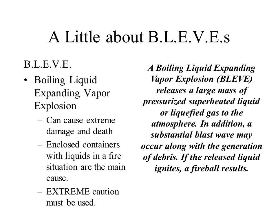 A Little about B.L.E.V.E.s B.L.E.V.E.
