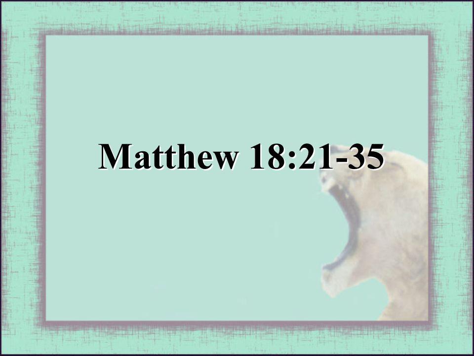 Matthew 18:21-35
