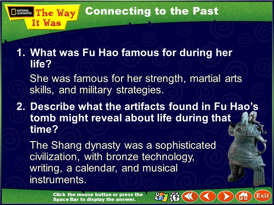 Focus on Everyday Life Zheng Zhenxiang was China's first female archaeologist. In 1976 she found the tomb of Fu Hao, China's first female general. In