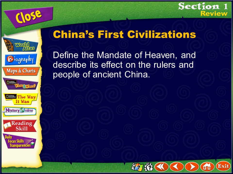 Click the mouse button or press the Space Bar to display the answer. Explain How did ancient Chinese kings maintain control of their dynasties? Kings