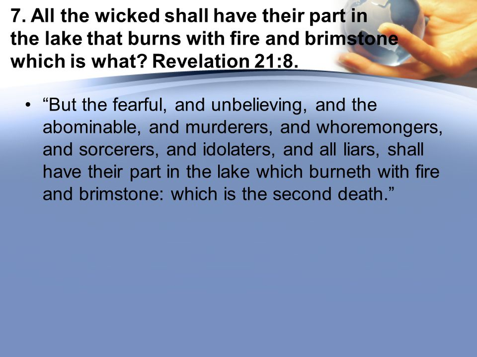 8.How do we know that the place of punishment is not underground .