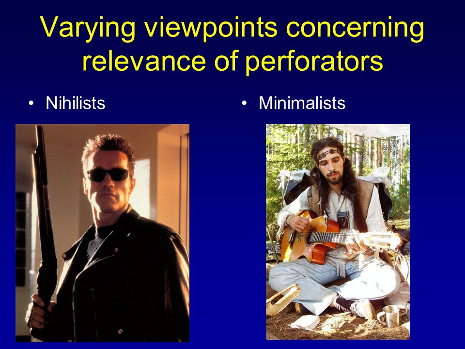 Varying viewpoints concerning relevance of perforators NihilistsMinimalists
