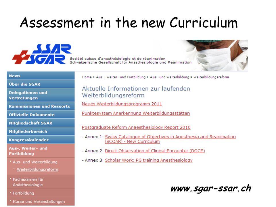 Assessment in the new Curriculum www.sgar-ssar.ch