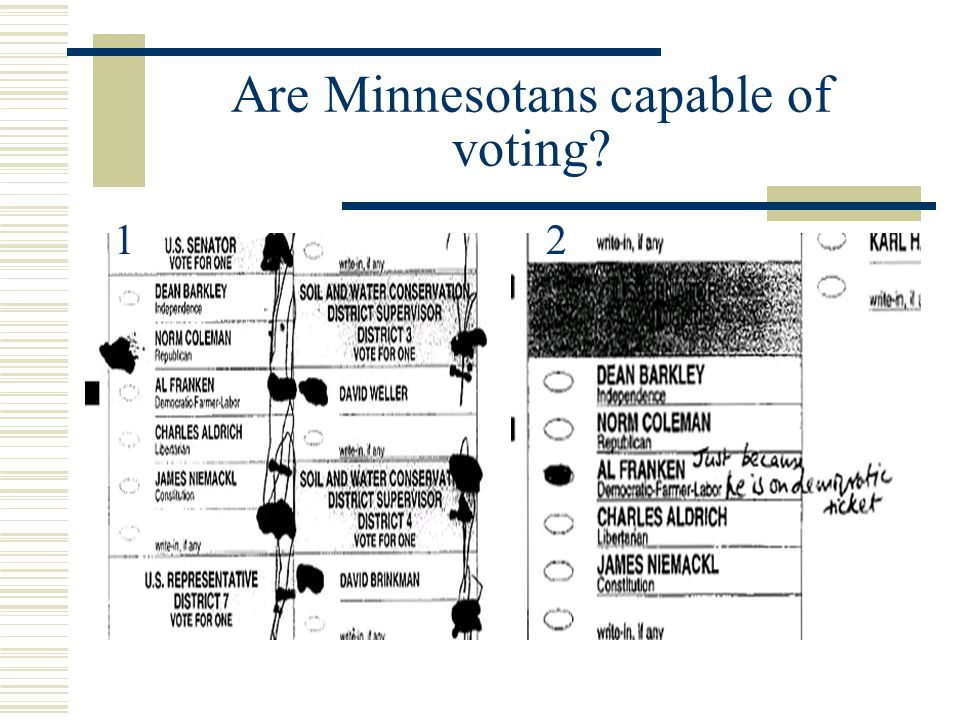 Are Minnesotans capable of voting? 12