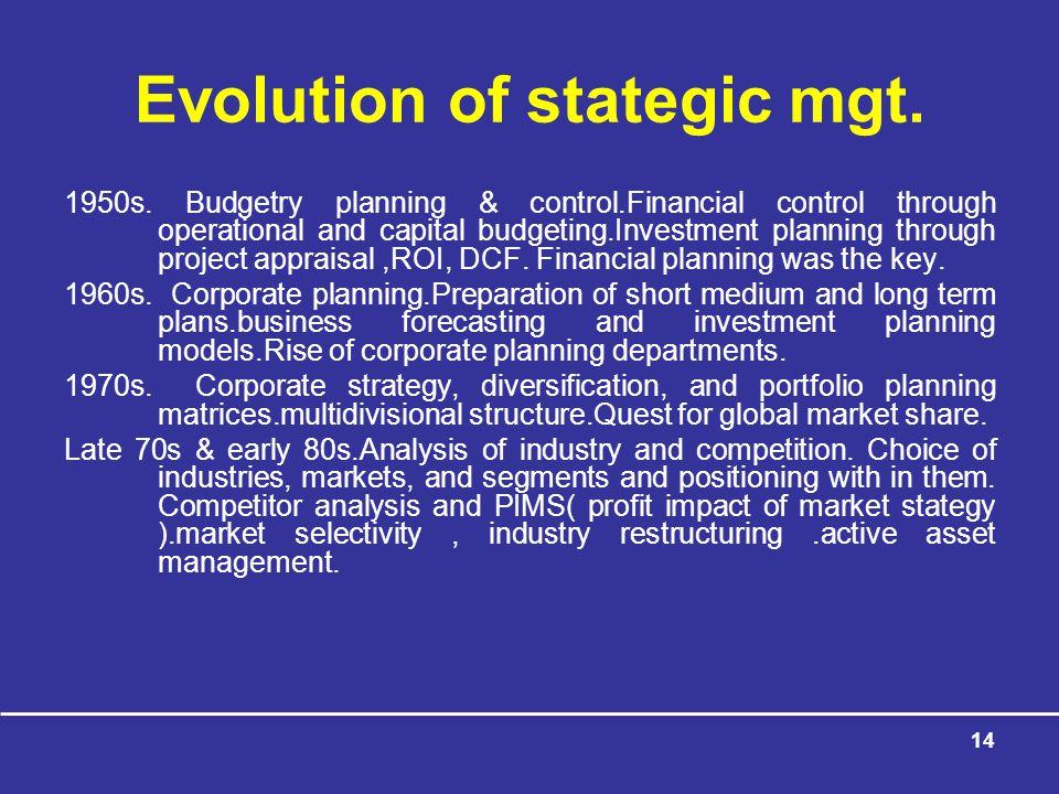 14 Evolution of stategic mgt.1950s.