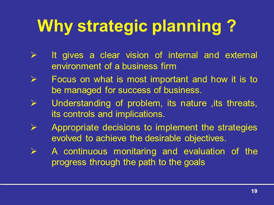 19 Why strategic planning .
